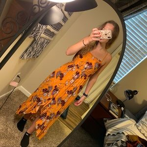 One clothing mustard floral maxi dress